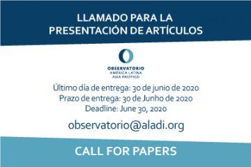 Quinto Seminario Académico del Observatorio América Latina - Asia Pacífico: Llamado a enviar artículos